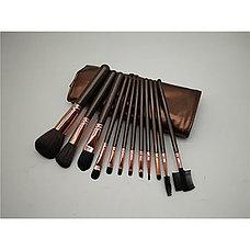 Профессиональный набор кисточек для макияжа в чехле 12 шт., фото 3
