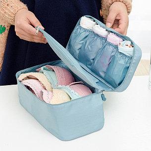 Дорожная сумка для нижнего белья 6 отделений голубая, фото 2