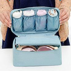 Дорожная сумка для нижнего белья 6 отделений голубая, фото 3