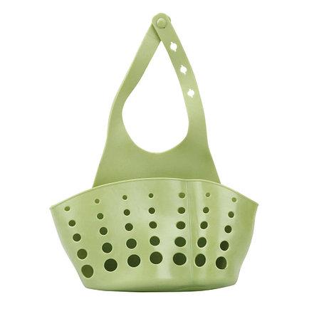 Органайзер для кухни и ванной на кнопке зеленый, фото 2