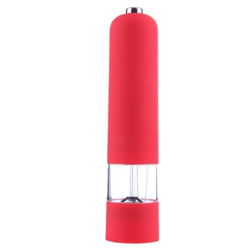 Мельница для специй электрическая, цвет красный
