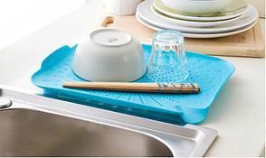 Пластиковый коврик-дуршлаг для раковины, цвет салатовый, фото 2