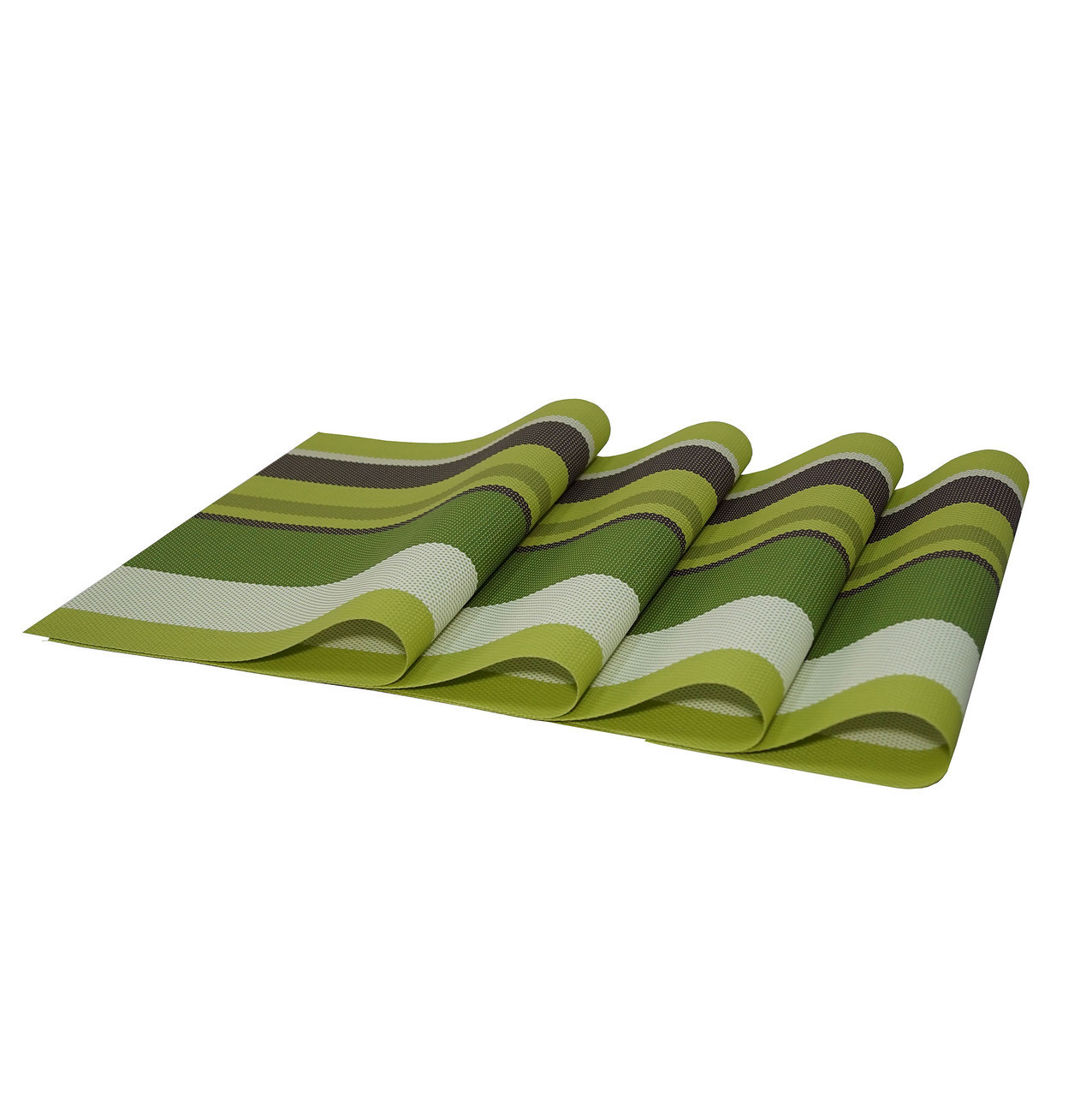Комплект из 4-х сервировочных ковриков, цвет зеленый