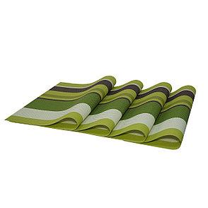 Комплект из 4-х сервировочных ковриков, цвет зеленый, фото 2
