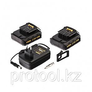 Дрель-шуруповерт аккумуляторная CDL-12-02, Li-Ion, 12 В, 1.5 А*ч, 2 аккумулятора Denzel, фото 2