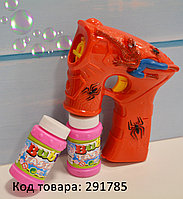Пистолет с мыльными пузырями Человек-паук на батарейках