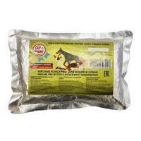 Корм влажный ГауМяу говядина с гречкой для кошек и собак пауч 500 г
