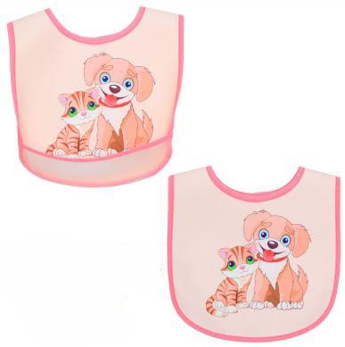 Нагрудник с карманом, цвет розовый