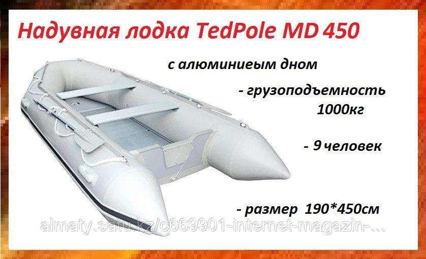 Надувная лодка с алюминиевым дном TadPole MD450