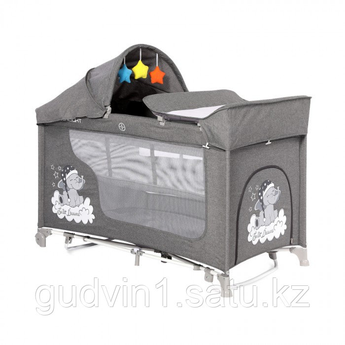МАНЕЖ MOONLIGHT 2 ROCKER  Серый / Grey Luxe 2068