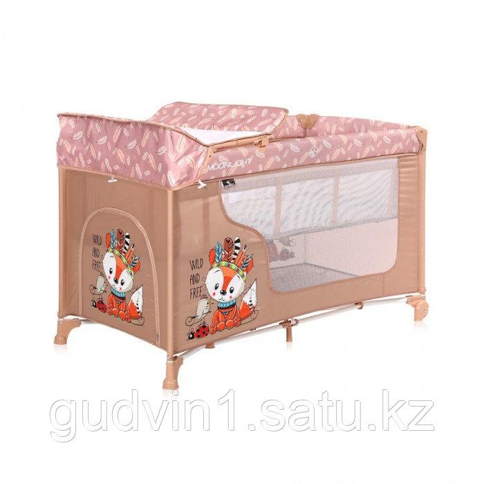 Кровать-манеж Lorelli MOONLIGHT 2  Бежевый / Beige  Foxy 2042