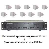 Комплект с настенной акустикой AUDAC до 300 м2  (для кафе, баров, ресторанов)