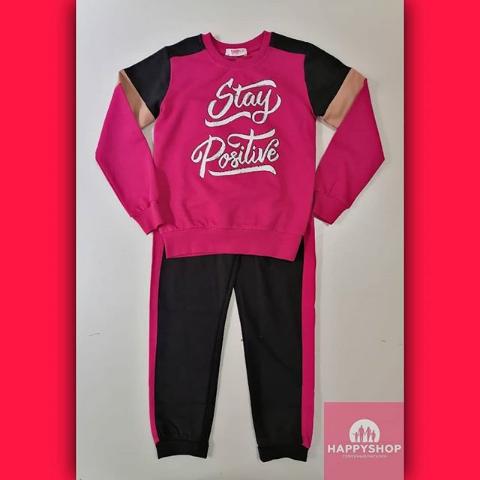 Детский спортивный костюм розово-черный