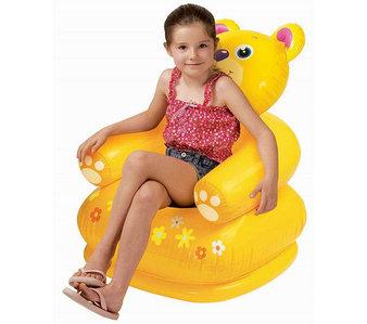 Кресло надувное детское «Весёлая зверушка» INTEX 68556 (Медвежонок)