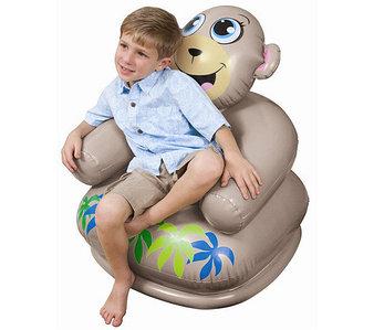 Кресло надувное детское «Весёлая зверушка» INTEX 68556 (Обезьяна)
