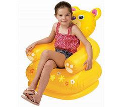 Кресло надувное детское «Весёлая зверушка» INTEX 68556 (Бегемот), фото 3