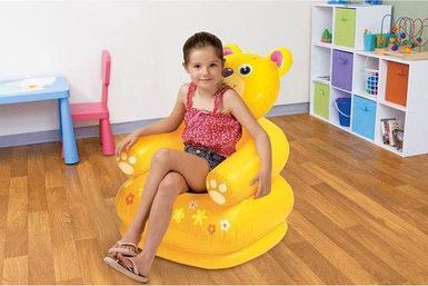 Кресло надувное детское «Весёлая зверушка» INTEX 68556 (Котенок)