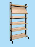 Шкаф-стеллаж комбинированный (1 наклонная и 5 горизонтальных полок)