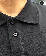 Поло футболки однотонные | Поло рубашка черного цвета
