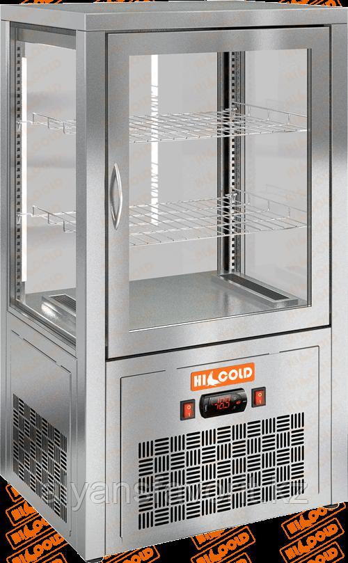Настольная вертикальная холодильная витрина HICOLD VRC 70