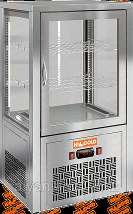 Настольная вертикальная холодильная витрина HICOLD VRC 70, фото 2