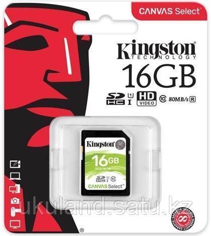 Карта памяти SD 16GB Class 10 U1 Kingston SDS/16GB