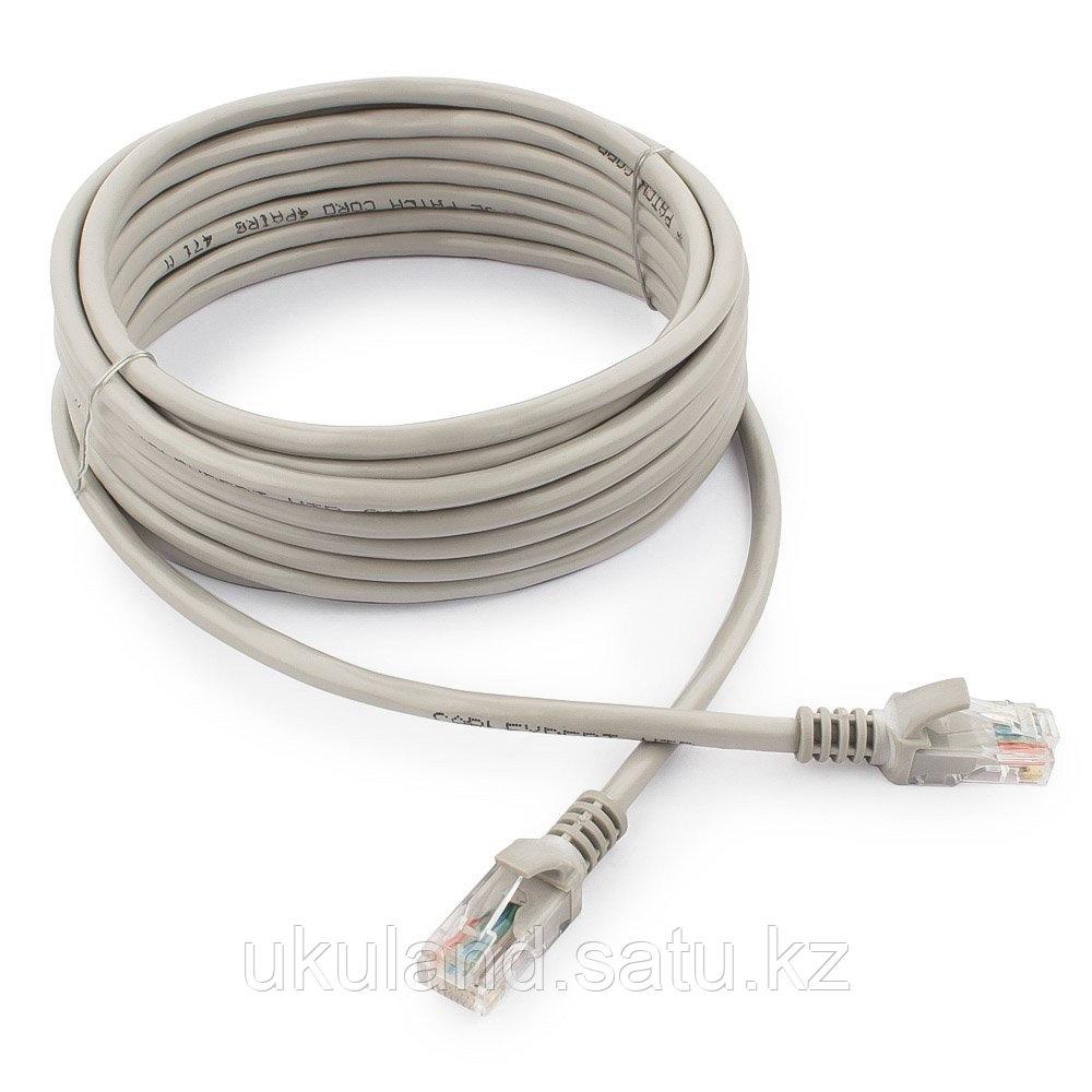 Патч-корд UTP Cablexpert PP12-5M кат.5e, 5м, литой, многожильный (серый)