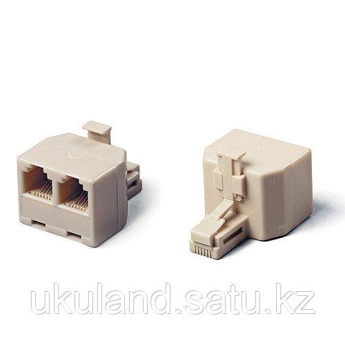 Разветвитель  US-12 RJ45 8P8C (джек) -> 2x8P8C (розетки)