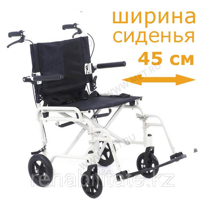 Кресло-каталка складная, облегчённая, грузоподъемность 130кг MET 903 .