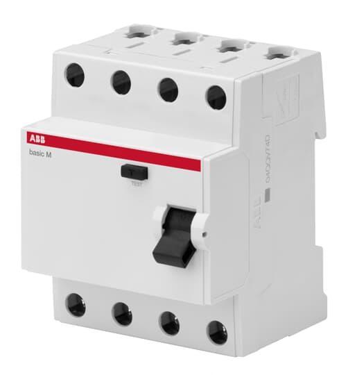 2CSF604042R2250 Выключатель дифференциального тока 4P 25A 100мA AC BMF42425