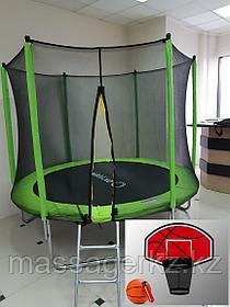 Батут Oxygen Fitness Standard 10 ft outside c баскетбольным кольцом в комплекте