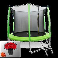 Батут Oxygen Fitness Standard 10 ft inside c баскетбольным кольцом в комплекте