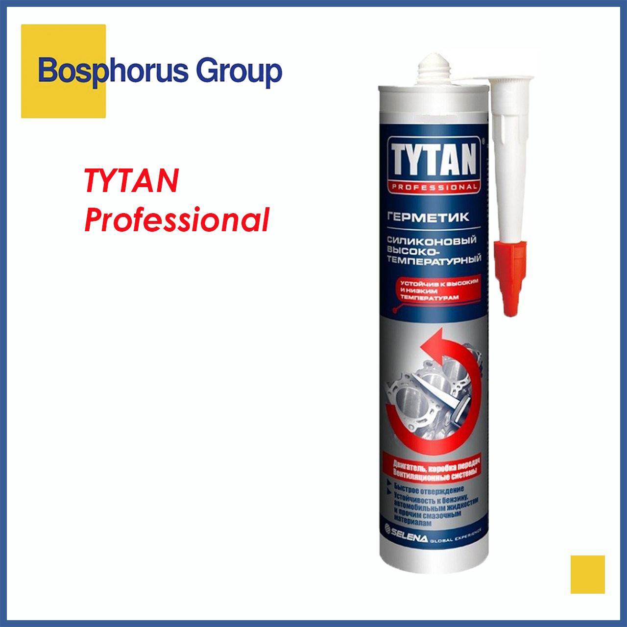 Герметик TYTAN высокотемпературный черный силиконовый