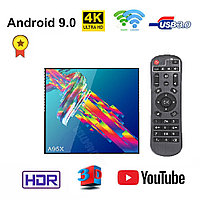 Яркая Android 9.0 TV приставка с памятью 4GB/32GB на 4-х ядерном процессоре Rockchip RK3318, модель A95X R3