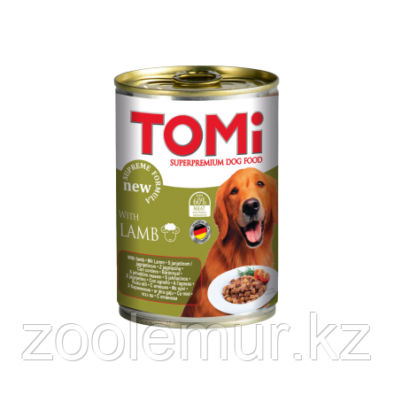 TOMI консервы - для собак  (с ягненком) 400 гр.