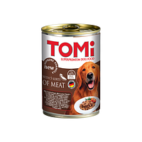 TOMI консервы - для собак  (пять видов мяса) 400 гр.