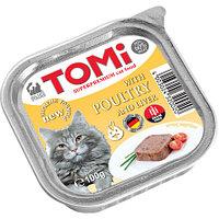 TOMI - для кошек паштет (с птицей и печенью) 100 гр.