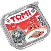 TOMI - для кошек паштет (телятина с птицей) 100 гр.