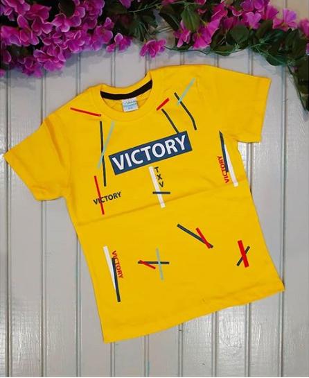 Футболка Victory, цвет жёлтый, на 6-7 лет
