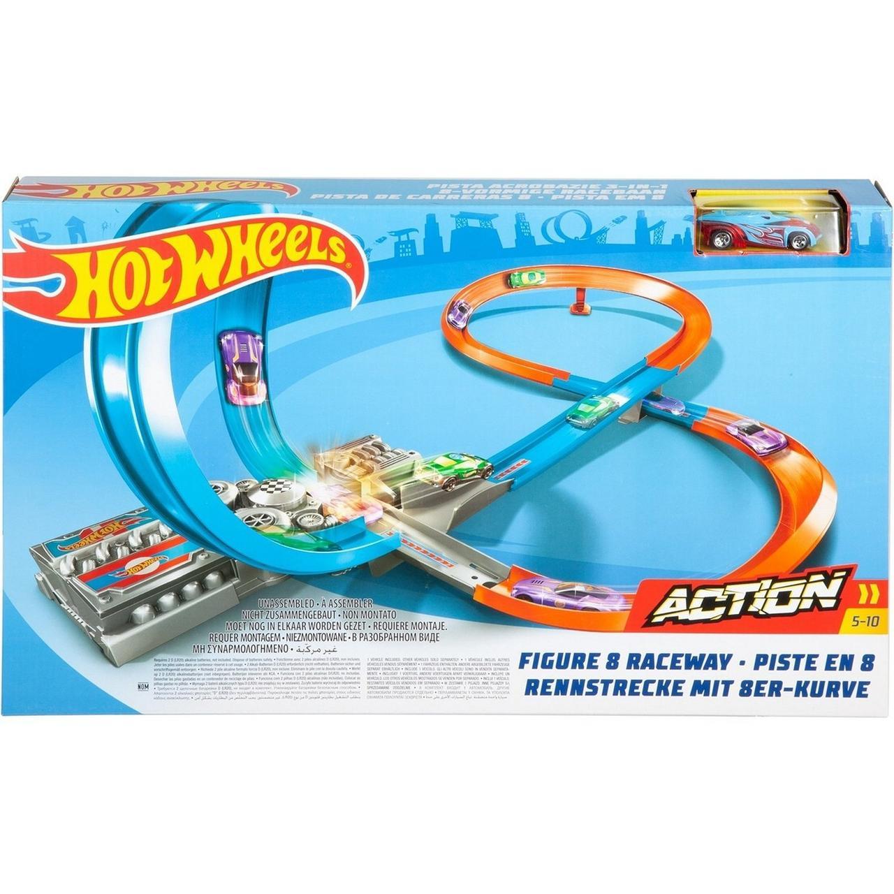"""Hot Wheels Набор """"ACTION: Скоростная восьмерка"""", Хот Вилс"""