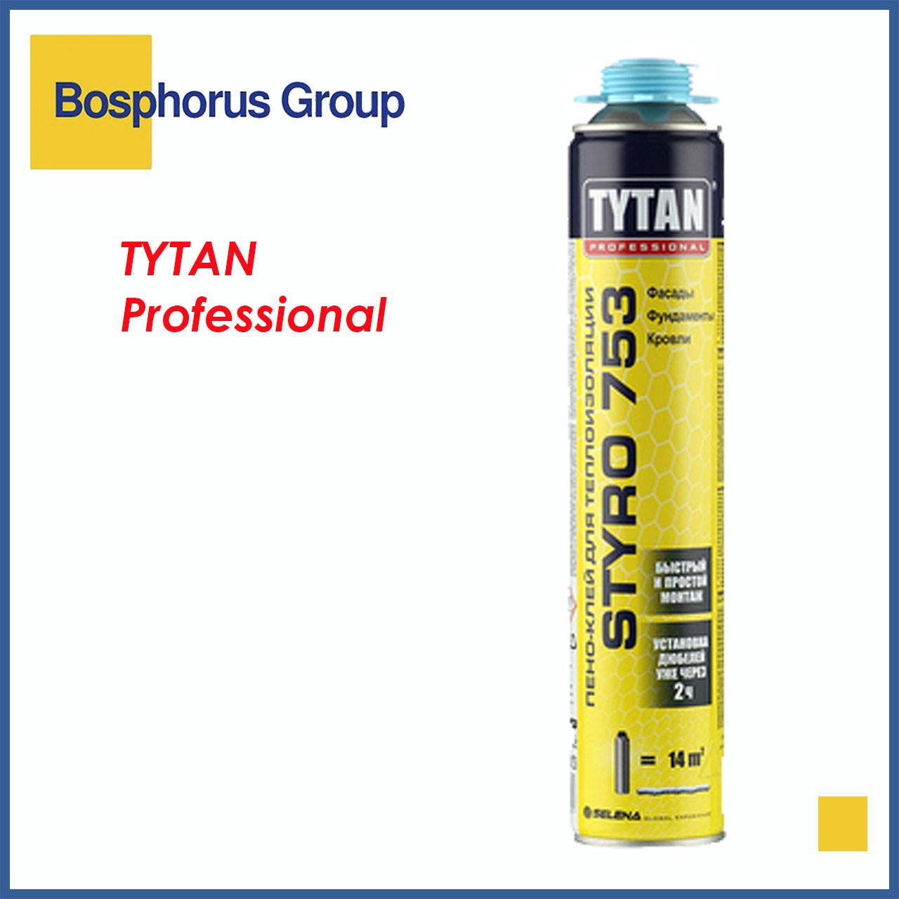 Пено-Клей TYTAN STYRO 753 для наружной теплоизоляции, голубой