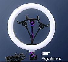 Кольцевая LED лампа для съёмки с телефона со стойкой 190 см, фото 3