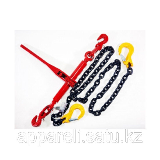 Крепёжная цепь с крюками, длина 5 метров