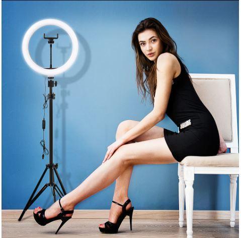 Кольцевая LED лампа для съёмки с телефона со стойкой 190 см