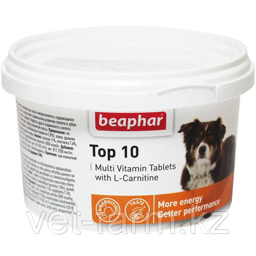 Top 10 мультивитаминная добавка для собак. Beaphar 180 таб