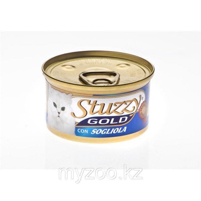 STUZZY GOLD  влажный корм для кошек Мусс Камбала 85гр