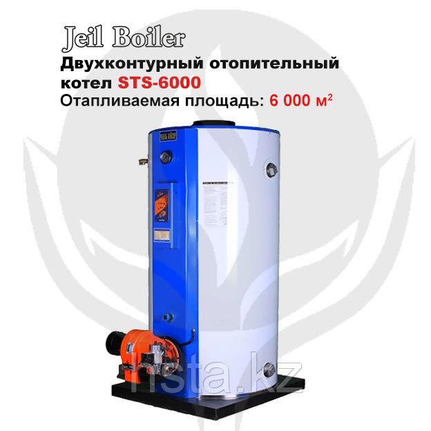Газовый напольный котел Jeil Boiler STS-6000 + горелка