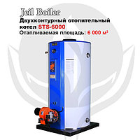 Газовый напольный котел Jeil Boiler STS-6000 + горелка, фото 1