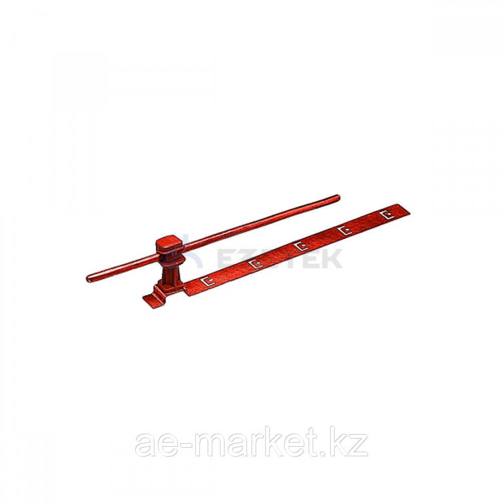 Держатель проводника круглого 6-8 мм для черепичной кровли, медь