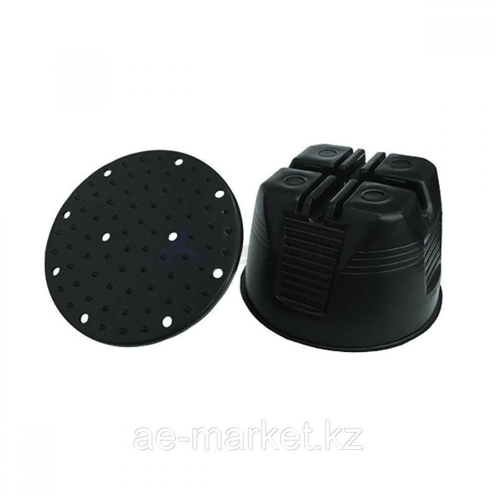 Держатель проводника круглого 8-10 мм для плоской кровли, пластик
